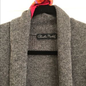 LONG SHAWL-COLLAR WOOL SWEATER / CAREER SWEATER
